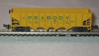 N Scale - AHM - 4364 - Open Hopper, 4-Bay Steel - Peabody Short Line