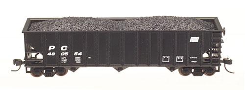 N Scale - Atlas - 32921 - Open Hopper, 3-Bay, 90 Ton - Penn Central - 480552
