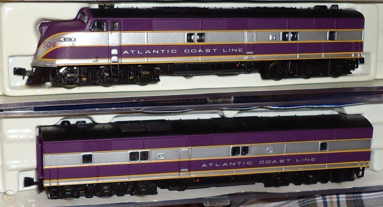 N Scale - Life-Like - 7344 - Locomotive, Diesel, EMD E6 - Atlantic Coast Line - 504, 750B