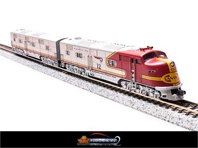 N Scale - Broadway Limited - 3011-B - Locomotive, Diesel, EMD E6 - Santa Fe - 12A
