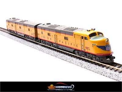 N Scale - Broadway Limited - 3012 - Locomotive, Diesel, EMD E6 - Union Pacific - 987, 987B