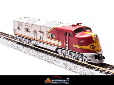 N Scale - Broadway Limited - 3014 - Locomotive, Diesel, EMD E6 - Santa Fe - 14L