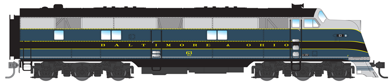 N Scale - Broadway Limited - 3016 - Locomotive, Diesel, EMD E6 - Baltimore & Ohio - 63