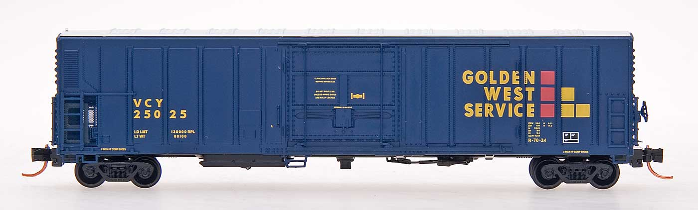 N Scale - InterMountain - 68808-09 - Reefer, 57 Foot, Mechanical, PC&F R-70-20 - Golden West Service - 25075