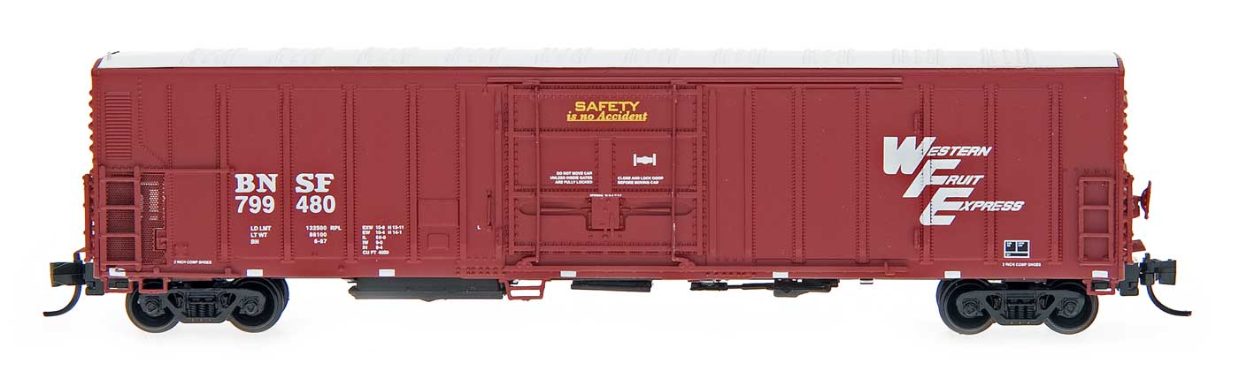 N Scale - InterMountain - 68806-12 - Reefer, 57 Foot, Mechanical, PC&F R-70-20 - Western Fruit Express - 799559