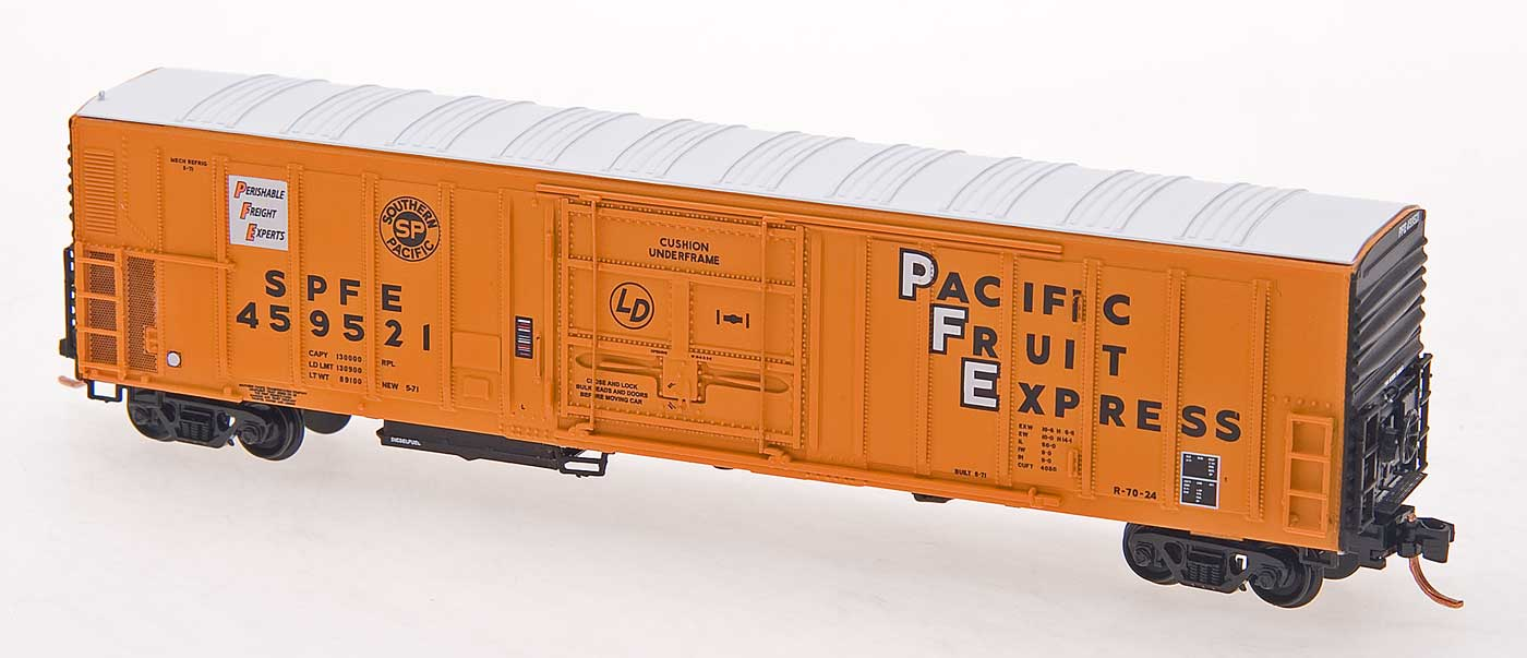 N Scale - InterMountain - 68813-11 - Reefer, 57 Foot, Mechanical, PC&F R-70-20 - Pacific Fruit Express - 459983