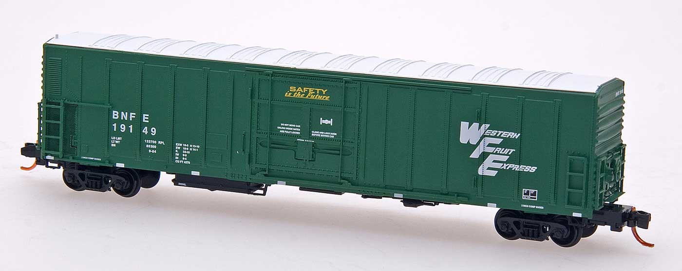 N Scale - InterMountain - 68816-01 - Reefer, 57 Foot, Mechanical, PC&F R-70-20 - Western Fruit Express - 19030