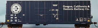 N Scale - LBF Company - 5559 - Boxcar, 60 Foot, Gunderson, Hi-Cube - Oregon California & Eastern - 12 different