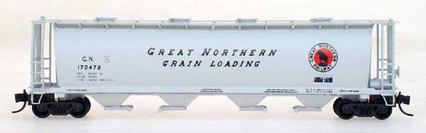 N Scale - InterMountain - 65204-09 - Covered Hopper, 4-Bay, Cylindrical - Great Northern - 170477