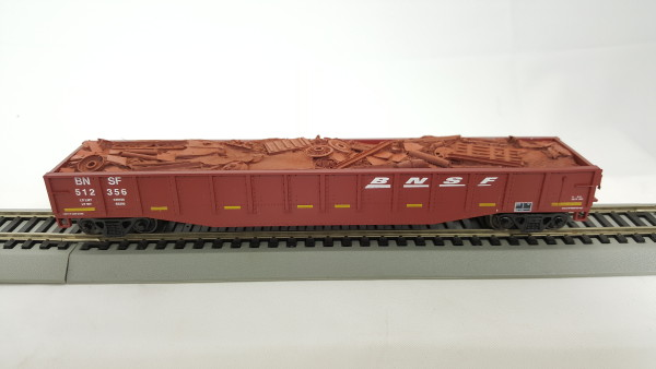 N Scale - Con-Cor - 0001-014062 - Gondola, 50 Foot, Steel - Burlington Northern Santa Fe - 3 Different Numbers