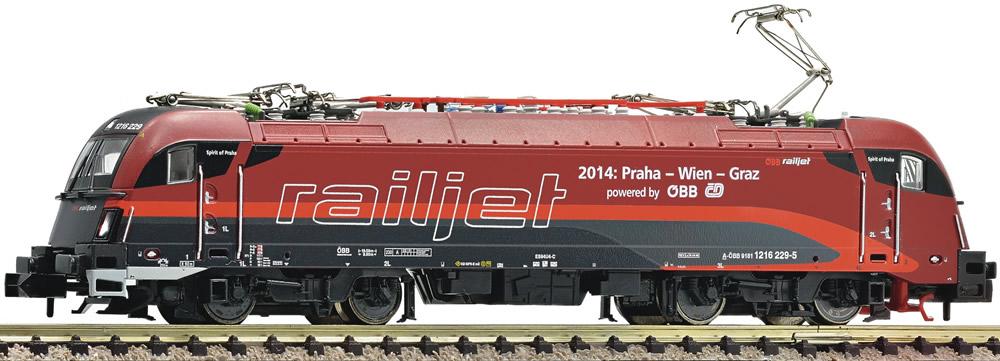 N Scale - Fleischmann - 731284 - Locomotive, Electric, Siemens ES64 U Taurus - Railjet - 1216-229-5