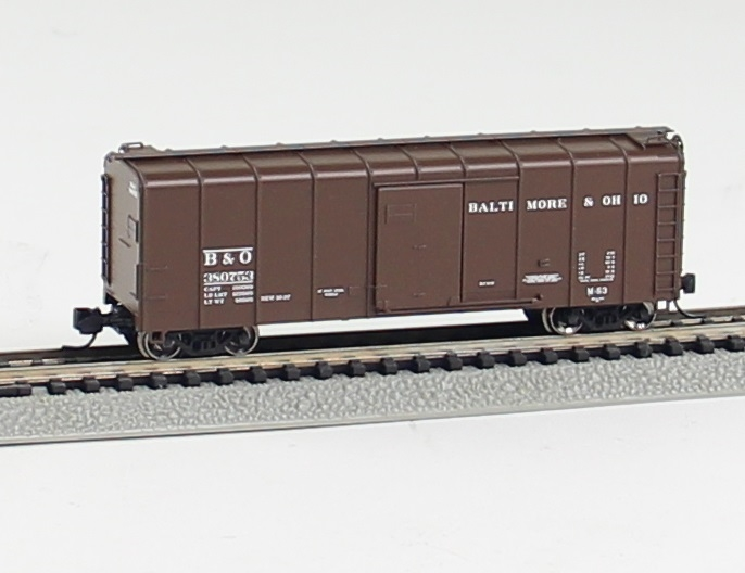 N Scale - Fox Valley - 90340 - Boxcar, 50 Foot, Wagontop - Baltimore & Ohio - 380275
