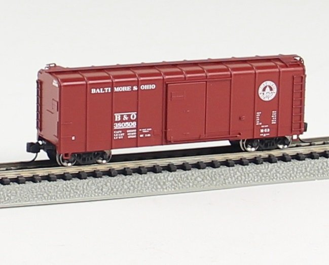 N Scale - Fox Valley - 90345 - Boxcar, 50 Foot, Wagontop - Baltimore & Ohio - 380268