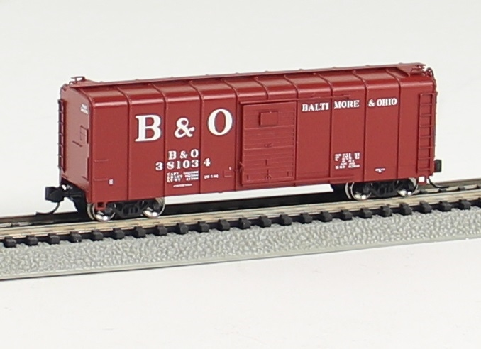 N Scale - Fox Valley - 90351 - Boxcar, 50 Foot, M53 Wagontop - Baltimore & Ohio - 380942
