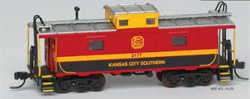 N Scale - Atlas - NSE ATL 15-25 - Caboose, Cupola, Steel, NE - Kansas City Southern - 2177