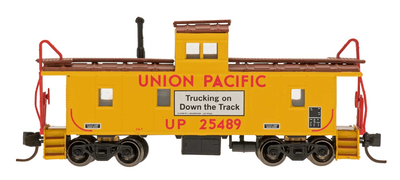 N Scale - Centralia Car Shops - NSE INT 12-29 - Caboose, Cupola, Steel - Union Pacific - 25489