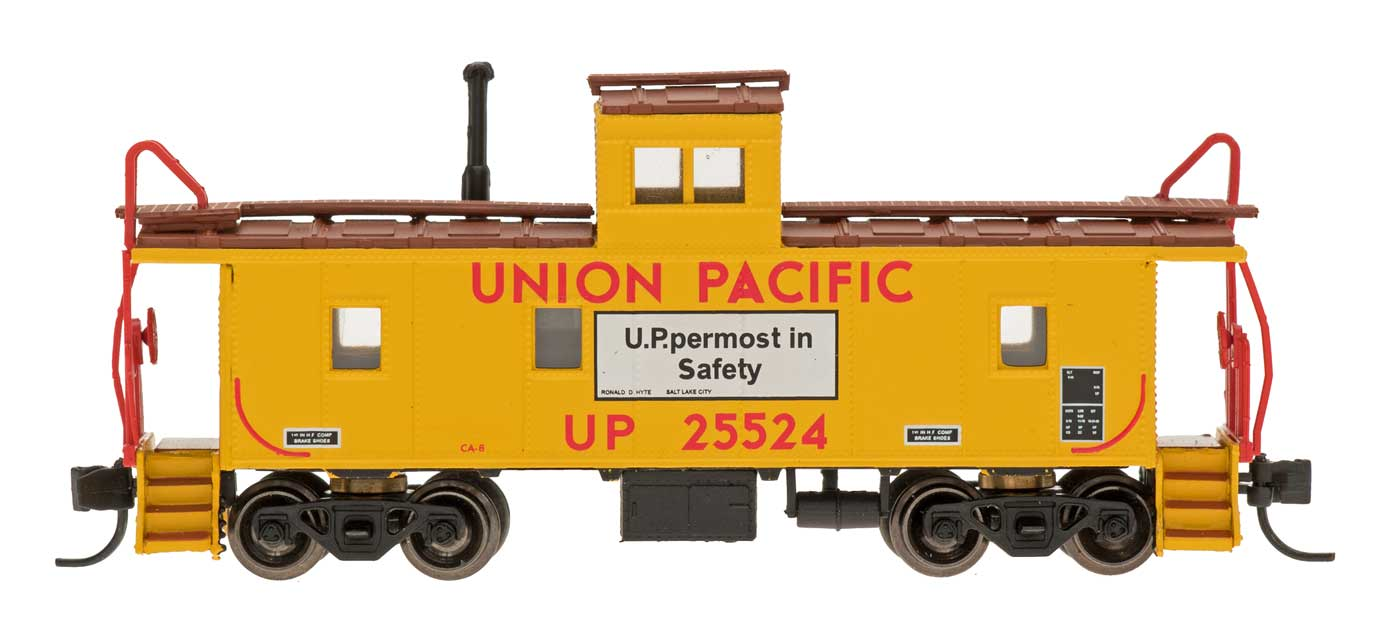 N Scale - Centralia Car Shops - NSE INT 12-30 - Caboose, Cupola, Steel - Union Pacific - 25524