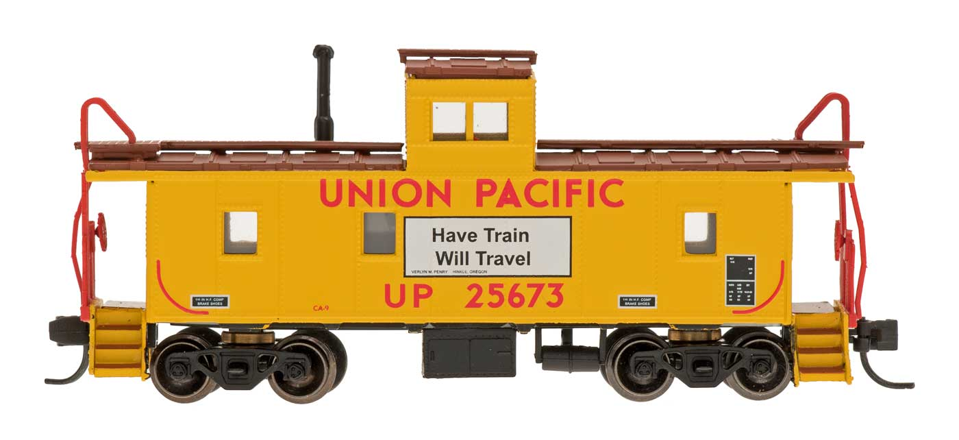 N Scale - Centralia Car Shops - NSE INT 12-31 - Caboose, Cupola, Steel - Union Pacific - 25673