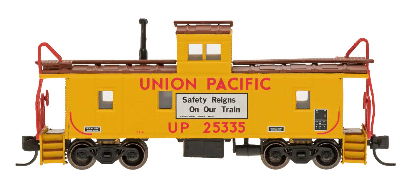 N Scale - Centralia Car Shops - NSE INT 12-28 - Caboose, Cupola, Steel - Union Pacific - 25335