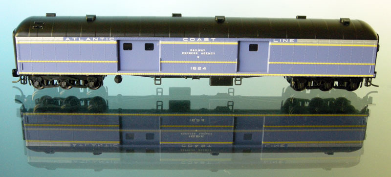N Scale - Wheels of Time - 263 - Passenger Car, Heavyweight - Atlantic Coast Line - 1624