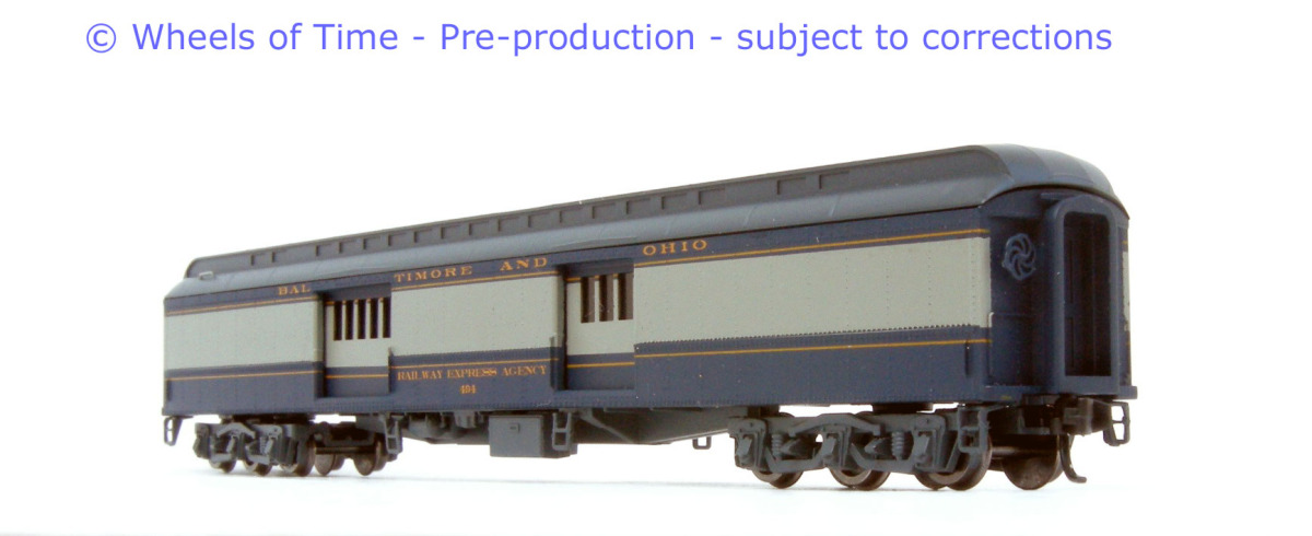 N Scale - Wheels of Time - 289 - Passenger Car, Heavyweight - Baltimore & Ohio - 495