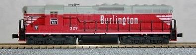 N Scale - Atlas - 4531 - Locomotive, Diesel, EMD SD9 - Burlington Route - 329