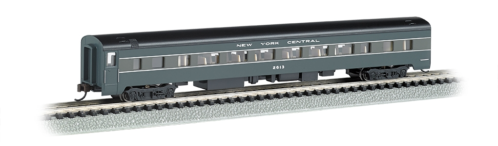 N Scale - Bachmann - 14255 - Passenger Car, Streamlined, Coach - New York Central - 2613