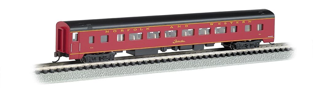 N Scale - Bachmann - 14252 - Passenger Car, Streamlined, Coach - Norfolk & Western - 534