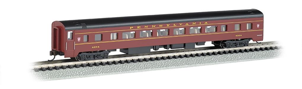 N Scale - Bachmann - 14251 - Passenger Car, Streamlined, Coach - Pennsylvania - 4264