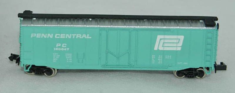 N Scale - Bachmann - 5447 - Boxcar, 50 Foot, Steel - Penn Central - 160647