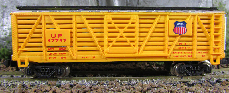 N Scale - Bachmann - 5047 - Stock Car, 40 Foot - Union Pacific - 47747