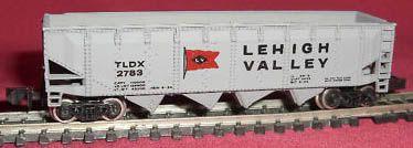 N Scale - Bachmann - 5083 - Open Hopper, 4-Bay, Offset - Lehigh Valley - 2783