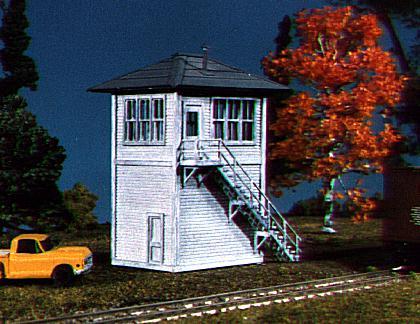 N Scale - American Model Builders - 602 - Interlocking Tower - Undecorated