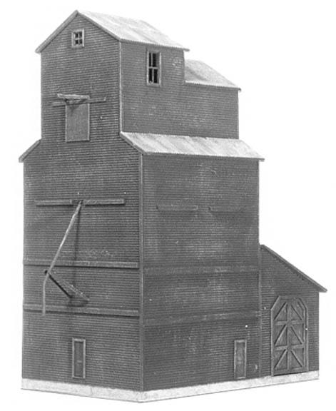 N Scale - American Model Builders - 610 - Wood Grain Elevator - Undecorated