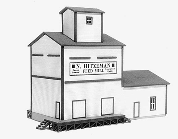 N Scale - American Model Builders - 611 - Feed Mill - Undecorated