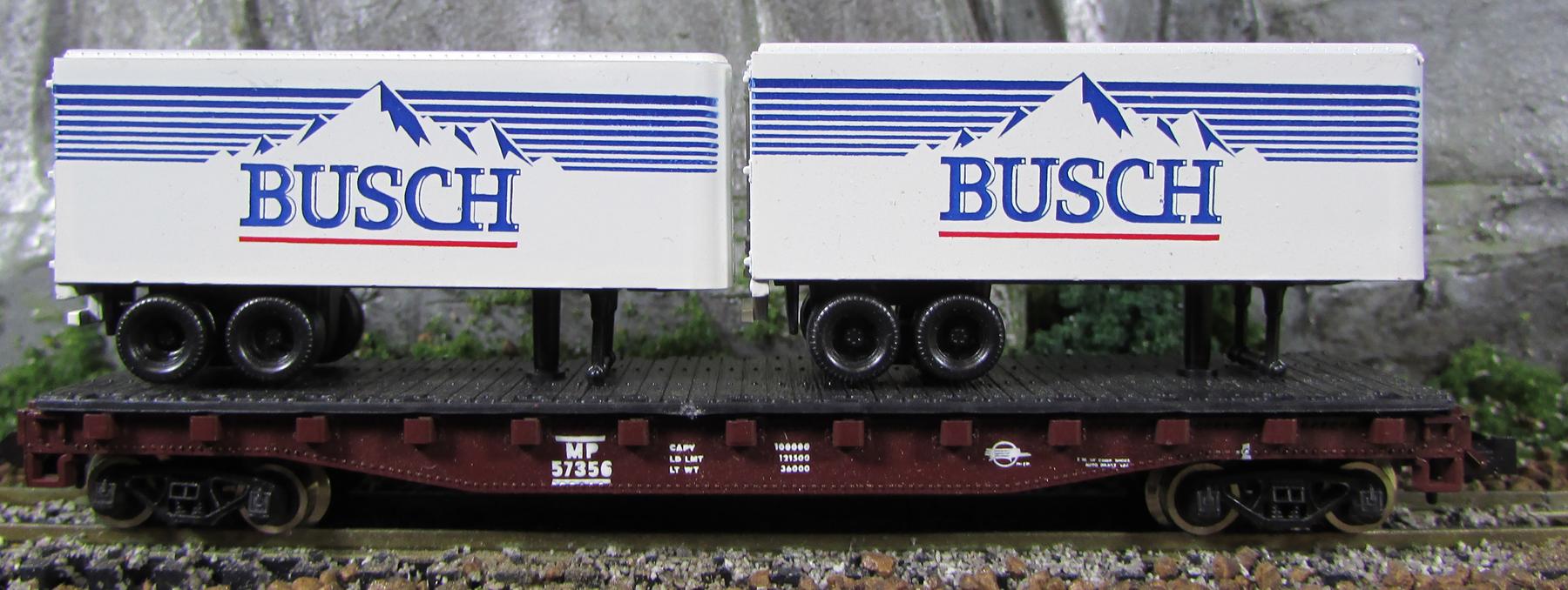N Scale - Ak-Sar-Ben - 9208-1 - Flatcar, 50 Foot - Missouri Pacific - 57456