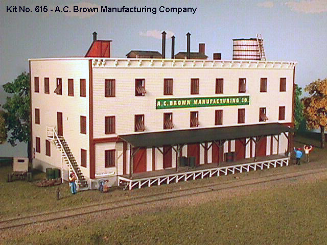 N Scale - American Model Builders - 615 - 3 Story Wood Manufacturing Building - Undecorated