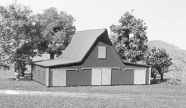 N Scale - American Model Builders - 617 - Small Barn - Undecorated