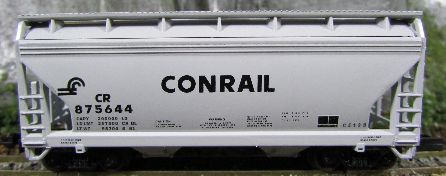 N Scale - Atlas - 3914 - Covered Hopper, 2-Bay, ACF Centerflow - Conrail - 875644
