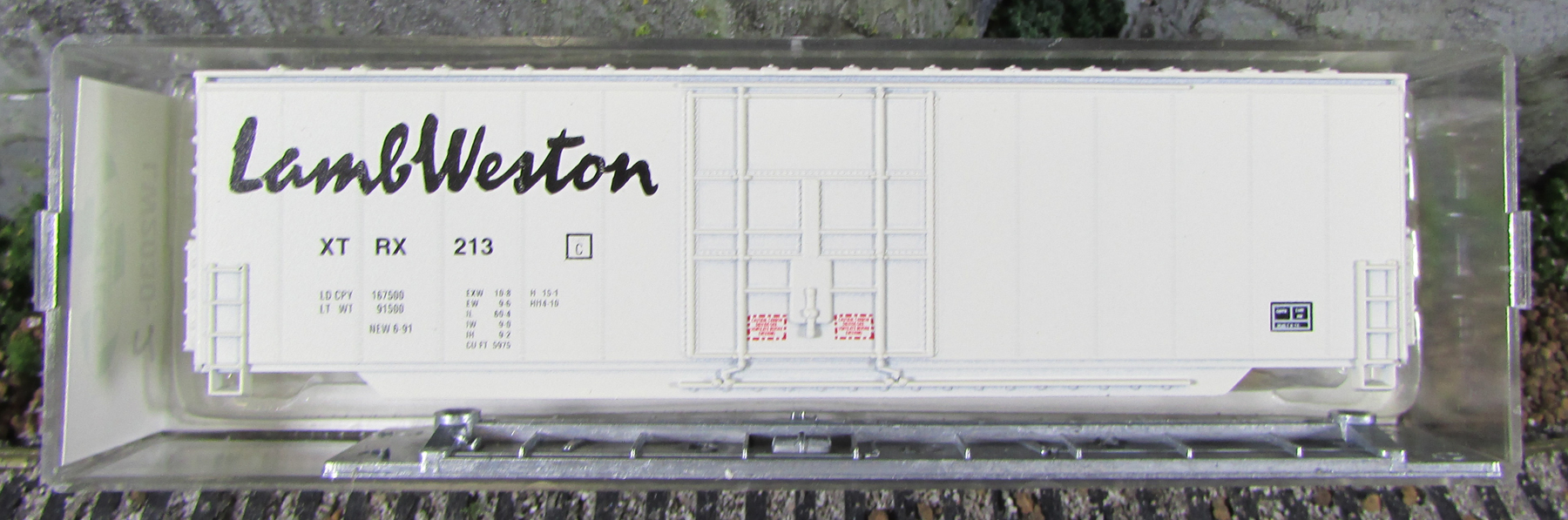 N Scale - Aztec - LW2030-2 - Boxcar, 50 Foot, Steel, Hi-Cube - Lamb Weston  - 213