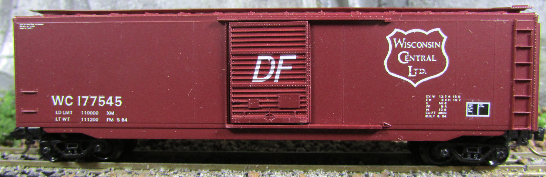 N Scale - Brooklyn Locomotive Works - BLW 1004 - Boxcar, 50 Foot, PS-1 - Wisconsin Central - 177545