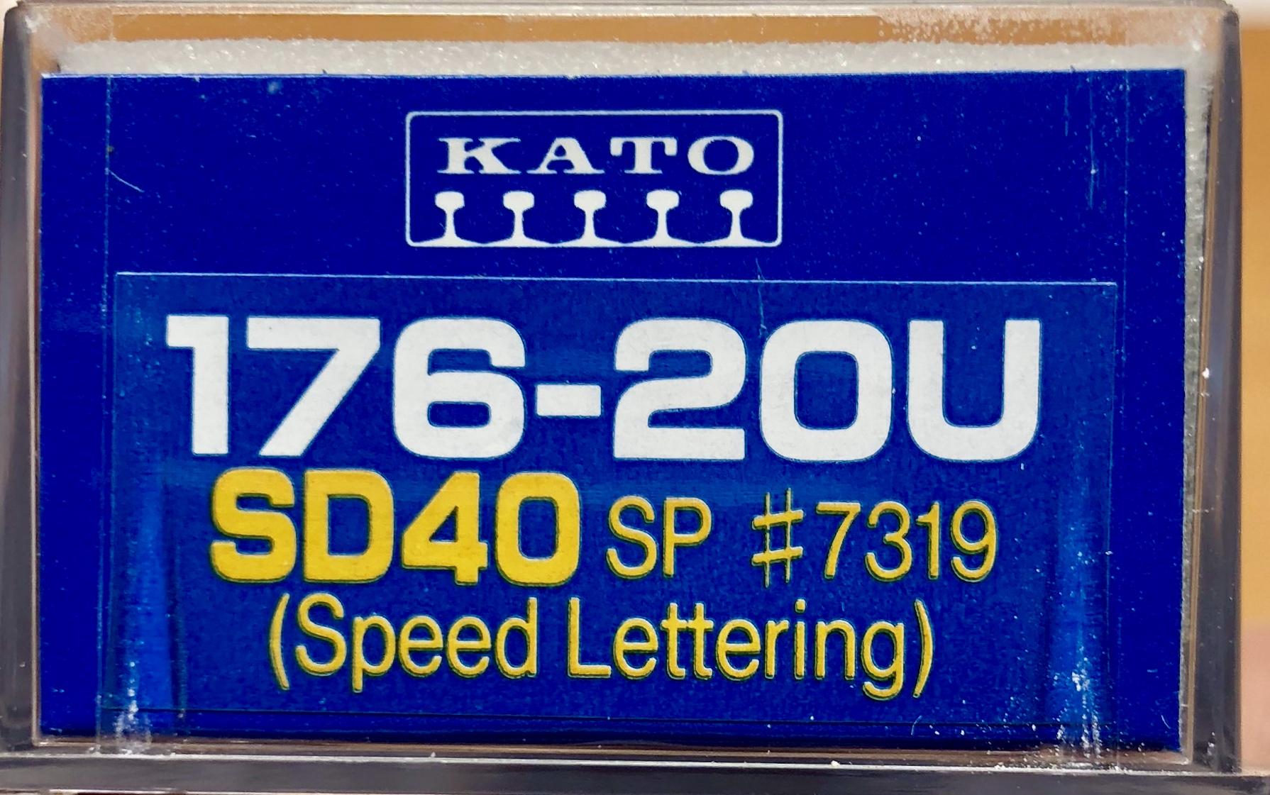 N Scale - Kato USA - 176-20U - Locomotive, Diesel, EMD SD40 - Southern Pacific - 7319