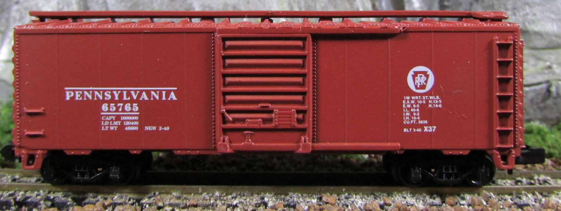 N Scale - Third Rail Graphics - 139-1 - Boxcar, 40 Foot, PS-1 - Pennsylvania - 65765