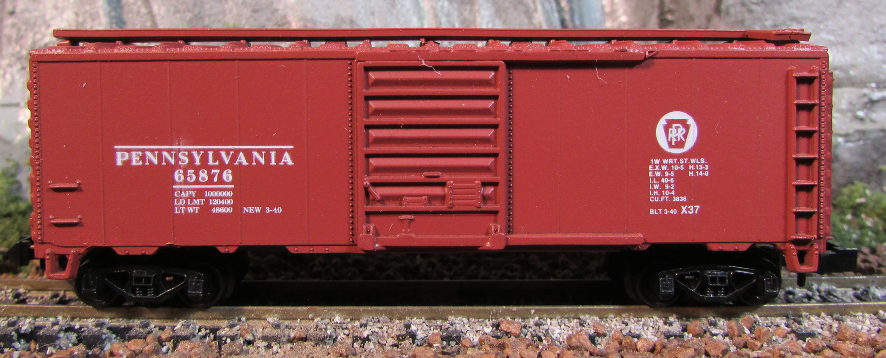 N Scale - Third Rail Graphics - 139-2 - Boxcar, 40 Foot, PS-1 - Pennsylvania - 65876