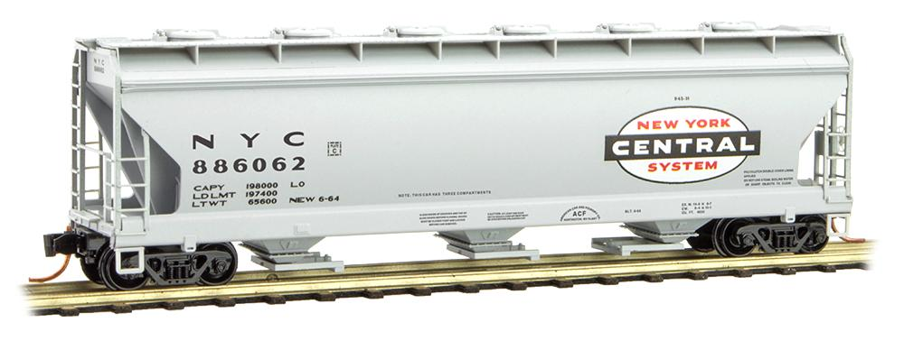 N Scale - Micro-Trains - 093 00 030 - Covered Hopper, 3-Bay, ACF 4650 - New York Central - 886062