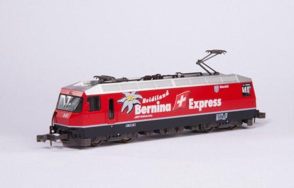 N Scale - Kato - 74037 - Locomotive, Electric, Ge 4/4 - Rhaetian Railway - 641