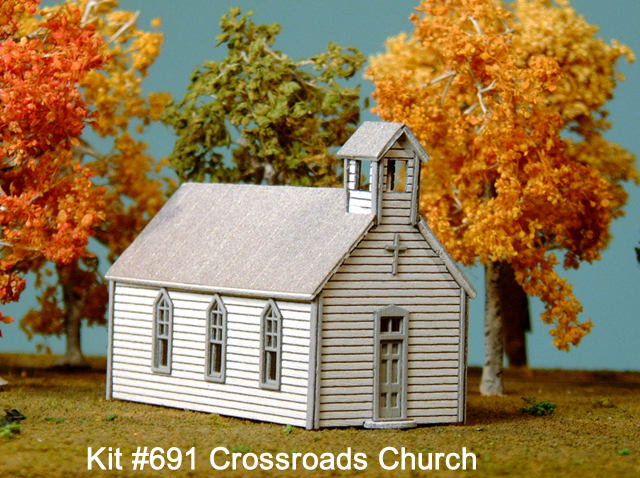 N Scale - American Model Builders - 691 - Small Church - Religious Structures
