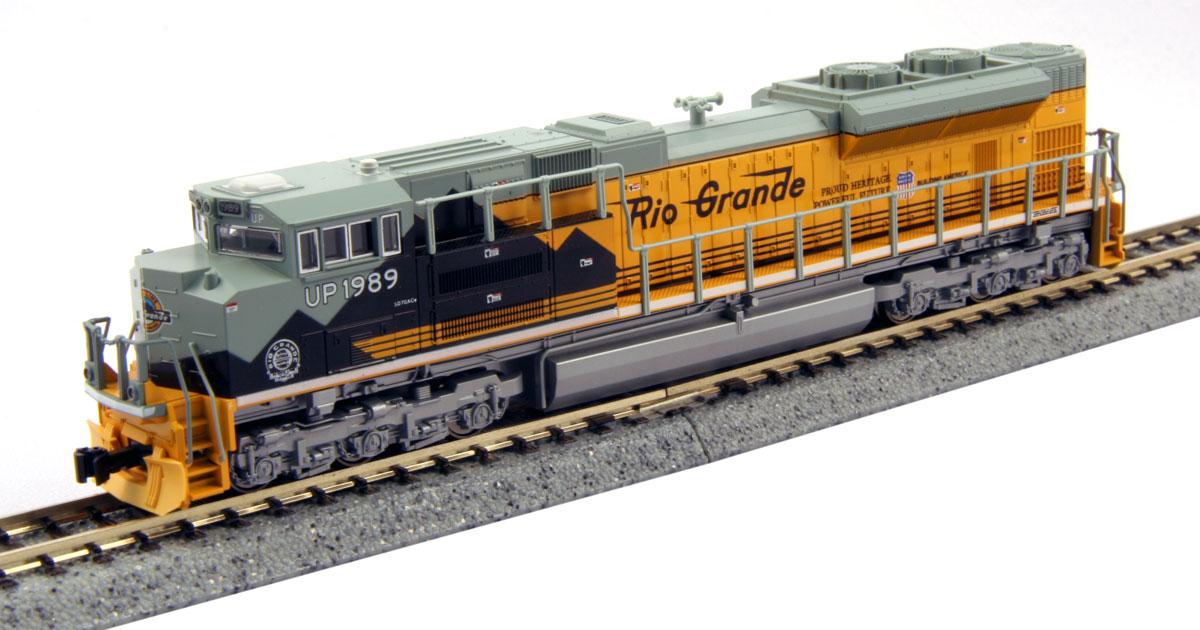 N Scale - Kato USA - 176-8405 - Locomotive, Diesel, EMD SD70 - Rio Grande - 1989