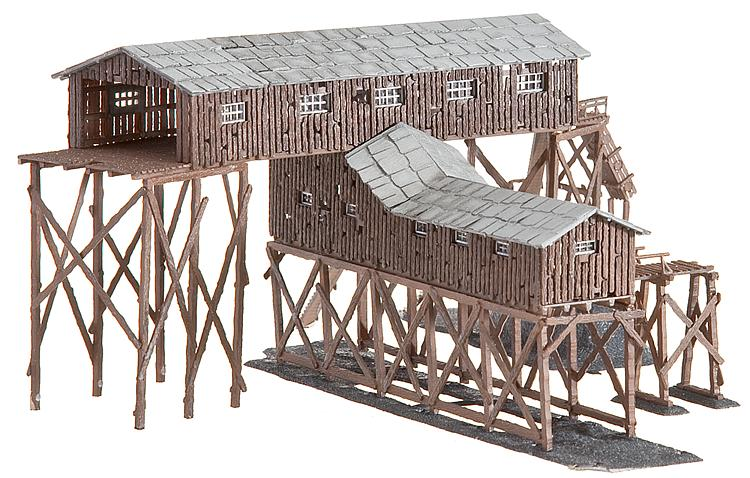 N Scale - Faller - 222205 - Old Wood coal mine - Industrial Structures