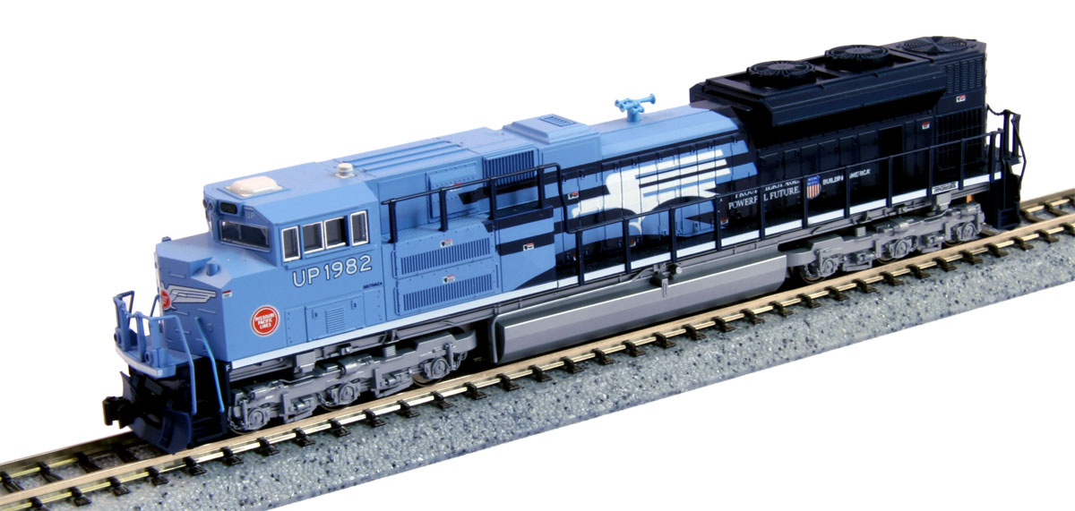 N Scale - Kato USA - 176-8408 - Locomotive, Diesel, EMD SD70 - Missouri Pacific - 1982
